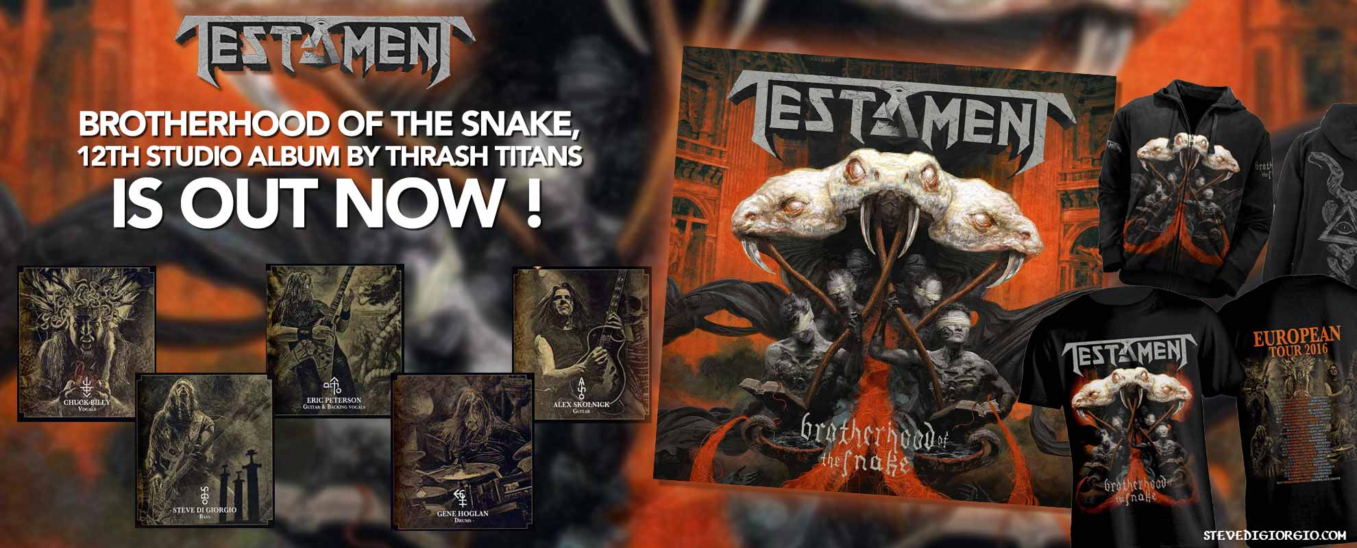 Testament's Brotherhood Of The Snake is Out NOW!
