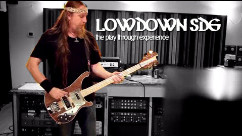 LowDown in studio footage of Calling bass tracking