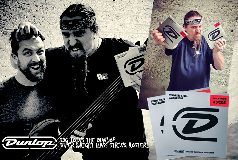 Steve joins the Dunlop Super Bright bass string roster!